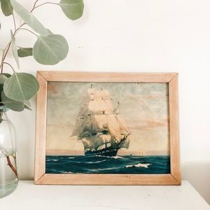 Other - Gorgeous ship print in frame